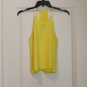 H&M Lemon Yellow Racerback Sun Top Size 6